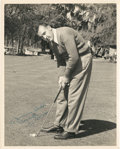 Golf Collectibles:Autographs, Circa 1941 Vic Ghezzi Signed Photograph....
