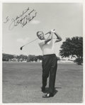 Golf Collectibles:Autographs, 1950's Chick Harbert Signed Photograph....