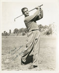 Golf Collectibles:Autographs, 1940's Dick Metz Signed Photograph....