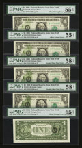 Error Notes:Offsets, Fr. 1913-B $1 1985 Federal Reserve Notes. Two Double OffsetPrinting . Errors. PMG Choice About Unc 58 EPQ. Fr. 1913-B...(Total: 5 notes)