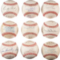Autographs:Baseballs, Old Timers Signed Baseballs Lot of 18 from Andy Seminick Collection.... (Total: 18 items)