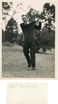 Golf Collectibles:Autographs, Circa 1921 Jesse Guilford Signed Cut Signature....