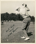 Golf Collectibles:Autographs, Circa 1950 Dutch Harrison Signed Photograph....