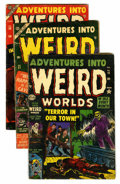 Golden Age (1938-1955):Horror, Adventures Into Weird Worlds #15, 21, and 30 Group (Atlas,1953-55).... (Total: 3 Comic Books)