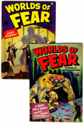 Golden Age (1938-1955):Horror, Worlds of Fear #6 and 7 Group (Fawcett, 1952).... (Total: 2 ComicBooks)
