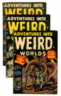 Golden Age (1938-1955):Horror, Adventures Into Weird Worlds #3, 8, and 14 Group (Atlas,1952-53).... (Total: 3 Comic Books)