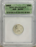 Canada:New Brunswick, Canada: New Brunswick. Victoria 10 Cents 1862,...