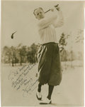 Golf Collectibles:Autographs, 1930's Jimmy Thomson Signed Photograph....
