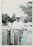 Golf Collectibles:Autographs, 1940's Al Watrous Signed Photograph....