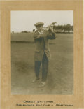 Golf Collectibles:Autographs, 1910's Charles Whitcombe Signed Cabinet Photograph....