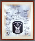 Autographs:Others, 2004 Cy Young Award Winners Multi-Signed Print....
