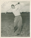 Golf Collectibles:Autographs, 1947 Lew Worsham Signed Photograph....