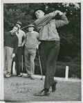 Golf Collectibles:Autographs, 1930's Charlie Yates Signed Photograph....