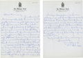 Golf Collectibles:Autographs, 1940's Vic Ghezzi Handwritten Letter to Tom Kerrigan....