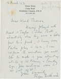 Golf Collectibles:Autographs, 1970 Roger Wethered Handwritten Signed Letter....