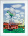 Football Collectibles:Others, 1978 Super Bowl XII Program Cover Original Artwork....
