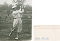 Golf Collectibles:Autographs, 1960's Mike Brady Signed Index Card & Unsigned Photograph....