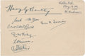 Golf Collectibles:Autographs, 1934 Harry J. Bentley & More Signed Album Page....