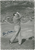 Golf Collectibles:Autographs, Circa 1940 Henry Cotton Signed Photograph....