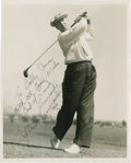 "Golf Collectibles:Autographs, 1946 ""Lighthorse"" Harry Cooper Signed Photograph to Bobby Jones...."