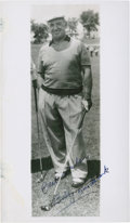 Golf Collectibles:Autographs, 1940's Bobby Cruickshank Signed Photograph....
