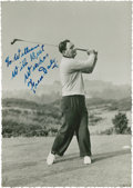 Golf Collectibles:Autographs, Circa 1947 Fred Daly Signed Photograph....