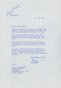 Golf Collectibles:Autographs, 1967 Bing Crosby Signed Letter....