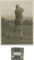 Golf Collectibles:Autographs, 1920's George Gadd Signed Cut Signature & Unsigned Photograph....