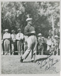 Golf Collectibles:Autographs, 1950's Bob Hamilton Signed Photograph....