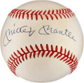Autographs:Baseballs, Mickey Mantle Signed Baseball....