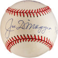 Autographs:Baseballs, Joe DiMaggio and Derek Jeter Multi-Signed Baseball....