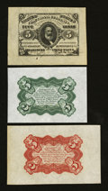 Fractional Currency:Third Issue, Fr. 1236SP 5¢ Third Issue Wide Margin Set Choice About New.... (Total: 3 notes)