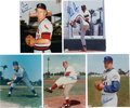 Autographs:Photos, Hall of Fame Pitchers Signed Photograph Lot of 5.... (Total: 5card)