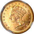 Gold Dollars, 1867 G$1 MS67 ★ Prooflike NGC....