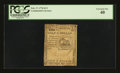 Colonial Notes:Continental Congress Issues, Continental Currency February 17, 1776 $1/2 PCGS Extremely Fine40....