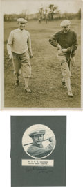 Golf Collectibles:Autographs, 1920's E.W.E. Holderness Signed Paper & Unsigned Photograph....