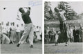 Golf Collectibles:Autographs, 1950's Harvie Ward & Charlie Ward Signed Photographs Lot of2....