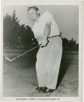 Golf Collectibles:Autographs, 1950's Walter Burkemo Signed Photograph....