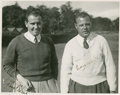 Golf Collectibles:Autographs, 1930's Jimmy Adams & Percy Alliss Signed Photograph....
