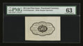 Fractional Currency:First Issue, Fr. 1313SP 50¢ First Issue Wide Margin Back PMG Choice Uncirculated 63....