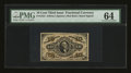 Fractional Currency:Third Issue, Fr. 1254 10¢ Third Issue PMG Choice Uncirculated 64....