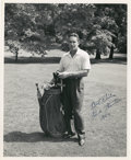 Golf Collectibles:Autographs, 1954 Frank Stranahan Signed Photograph....