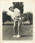 Golf Collectibles:Autographs, 1950's Sam Urzetta Signed Photograph....