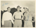Golf Collectibles:Autographs, 1940's Clayton Heafner & Bob Hamilton Signed Photograph....
