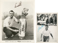 Golf Collectibles:Autographs, 1950's Arnold Palmer & Johnny Palmer Signed Photographs Lot of2....