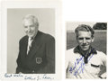 Golf Collectibles:Autographs, 1960's Arthur Lacey & Harry Weetman Signed Photographs Lot of2....