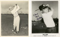 Golf Collectibles:Autographs, 1980's Dave Marr & Freddie Haas Signed Photographs Lot of 2....