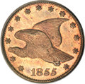 Patterns, 1855 E1C Flying Eagle Cent, Judd-170a, Pollock-Unlisted, R.7, PR65PCGS....