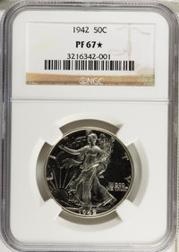 1942 50C PR67 ★ NGC. NGC Census: (792/162). PCGS Population (684/35). Mintage: 21,120. Numismedia Wsl. Price for probl...