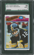 Football Cards:Singles (1970-Now), 1977 Topps Mexican Terry Bradshaw #245 SGC 88 NM/MT 8....